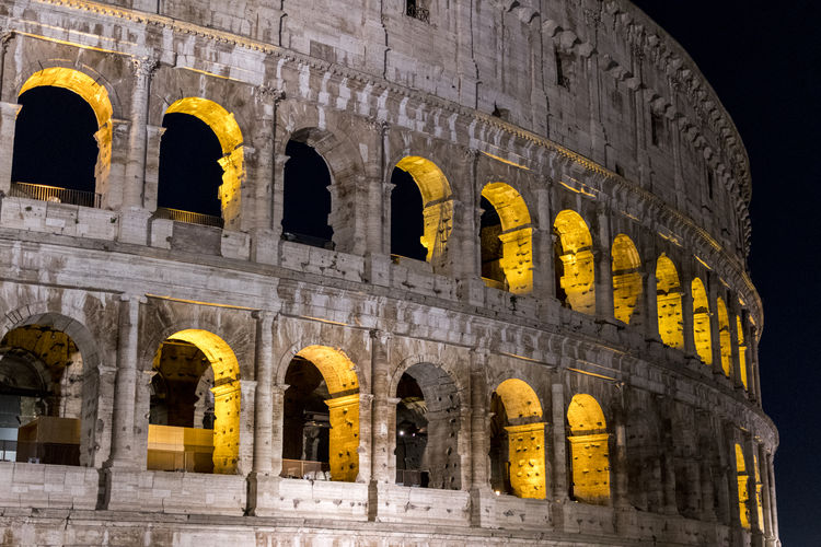Rome Ancient Architecture Built Structure History Night No People Old Ruin Outdoors The Past Tourism Travel Destinations
