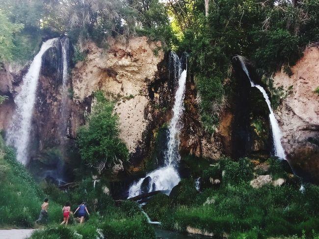 Rifle Falls Waterfall Falling Water Power In Nature Crashing Force Splashing Rapid Flowing Water