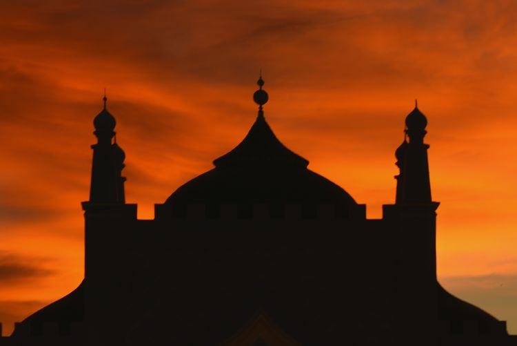 Baiturrahman grand aceh mosque Architecture Aceh Sunset Built Structure Sky Building Exterior Orange Color Building Religion Silhouette Place Of Worship Belief Spirituality Cloud - Sky Nature No People Travel Destinations Travel History Outdoors The Past Spire