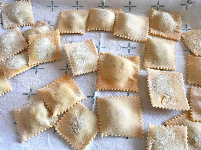 Eating In Sicily Food Pasta Pasta Time Pasta Food And Drink Indoors  Flour Freshness Food Dough No People Directly Above Full Frame Temptation Sweet Food Close-up Day Ravioli Pattern Food Stories