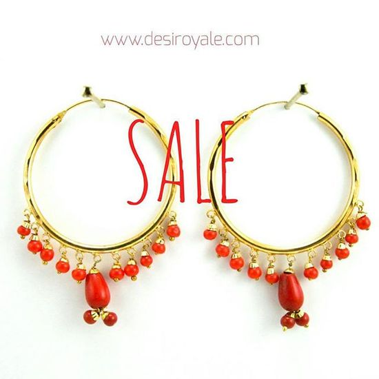 www.desiroyale.com Check out our Beautiful Goldplated Earrings Red upto 60%off Sale Freeshipping Desi Desiroyale Wedding Punjabi Picoftheday Photooftheday Indianbride Accessories Jewelry Buy Online  Shopping Desiweddings Burningman Anthropologie Zara Indiansuit Diwali Rakhi gift bride stones bridal
