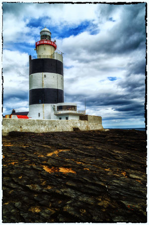 Architecture Building Exterior Built Structure Cloud Cloud - Sky Cloudy Day Hook Head, Ireland Hook Lighthouse Ireland Ireland🍀 Lighthouse No People Outdoors Protection Safety Sea Sky Tower Wexford