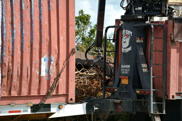Clean up after Hurricane Outdoors No People Business Finance And Industry Heavy Equipment Clean Up Hurricane Relief Hurricane Irma 2017 Storm Debris Hurricane Damage Storm Damage Debris Roadside Downed Trees Aftermath Damages Hurricane Season  Hurricane Season
