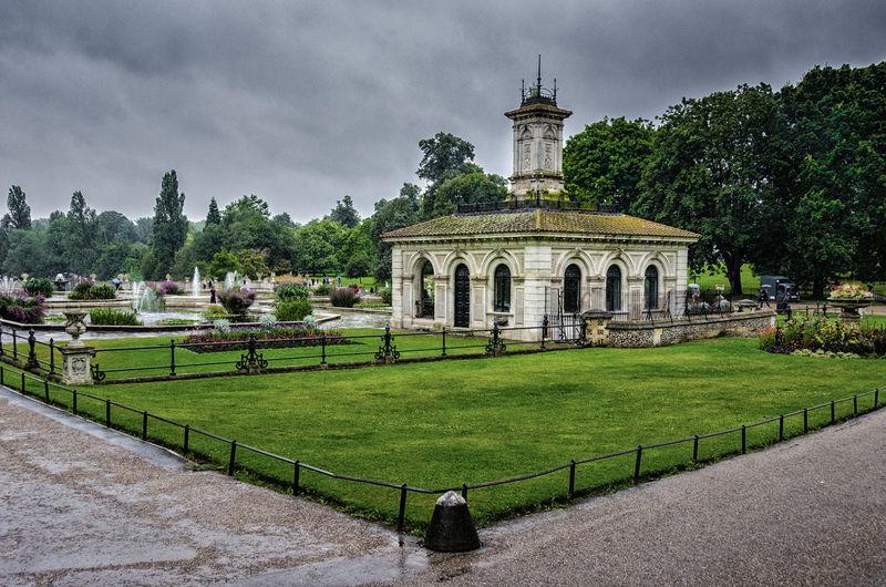 Hyde Park Against Cloudy Sky