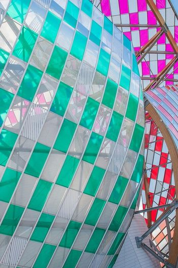 Fondation Louis Vuitton  Paris Colours Architecture Colourful Building Exterior Bois De Boulogne Vuitton