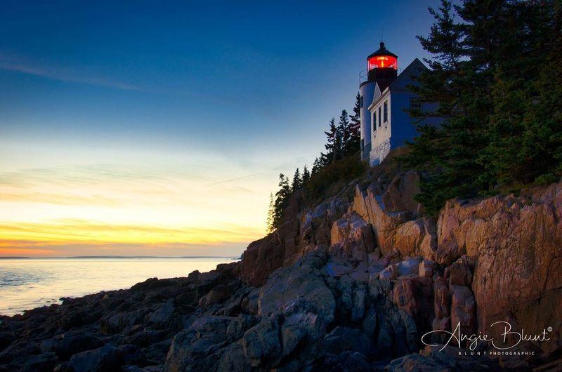 Bass Harbor Light, Maine Sunset Lighthouse Maine Atlantic Ocean Bass Harbor Bass Harbor Lighthouse