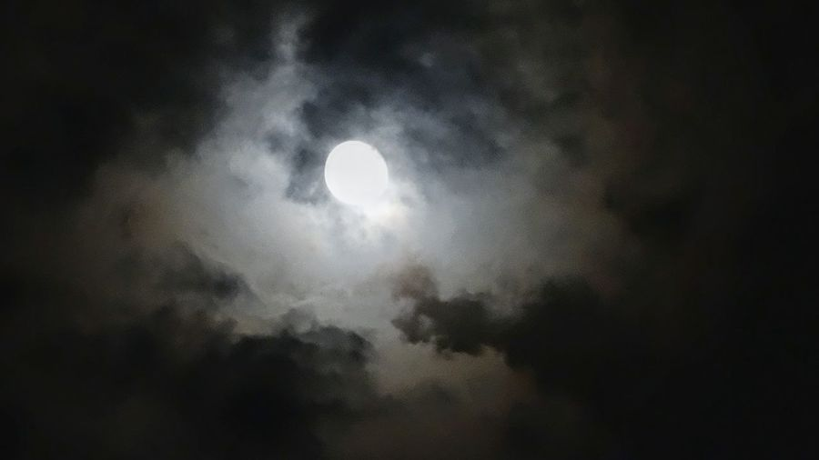 Night Astronomy Nature Tranquility Sky Beauty In Nature Space No People Moon Galaxy Dark Scenics Low Angle View Milky Way Outdoors Star - Space EyeEm New Here Clouds And Sky Cloudy Night Cloudy Moon Lite Night