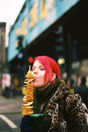 Chipstix in Camden London Camden Town Streetphotography One Person Redhead Real People Postcode Postcards