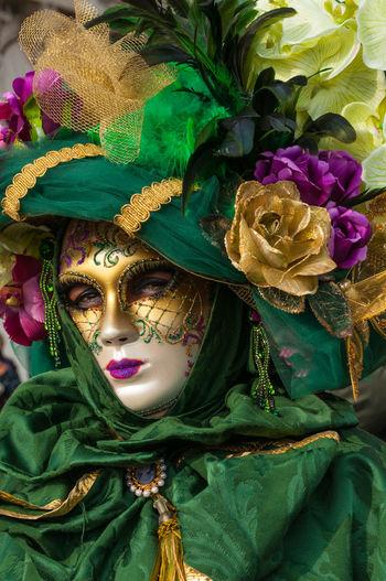 Close-up portrait of multi colored flower