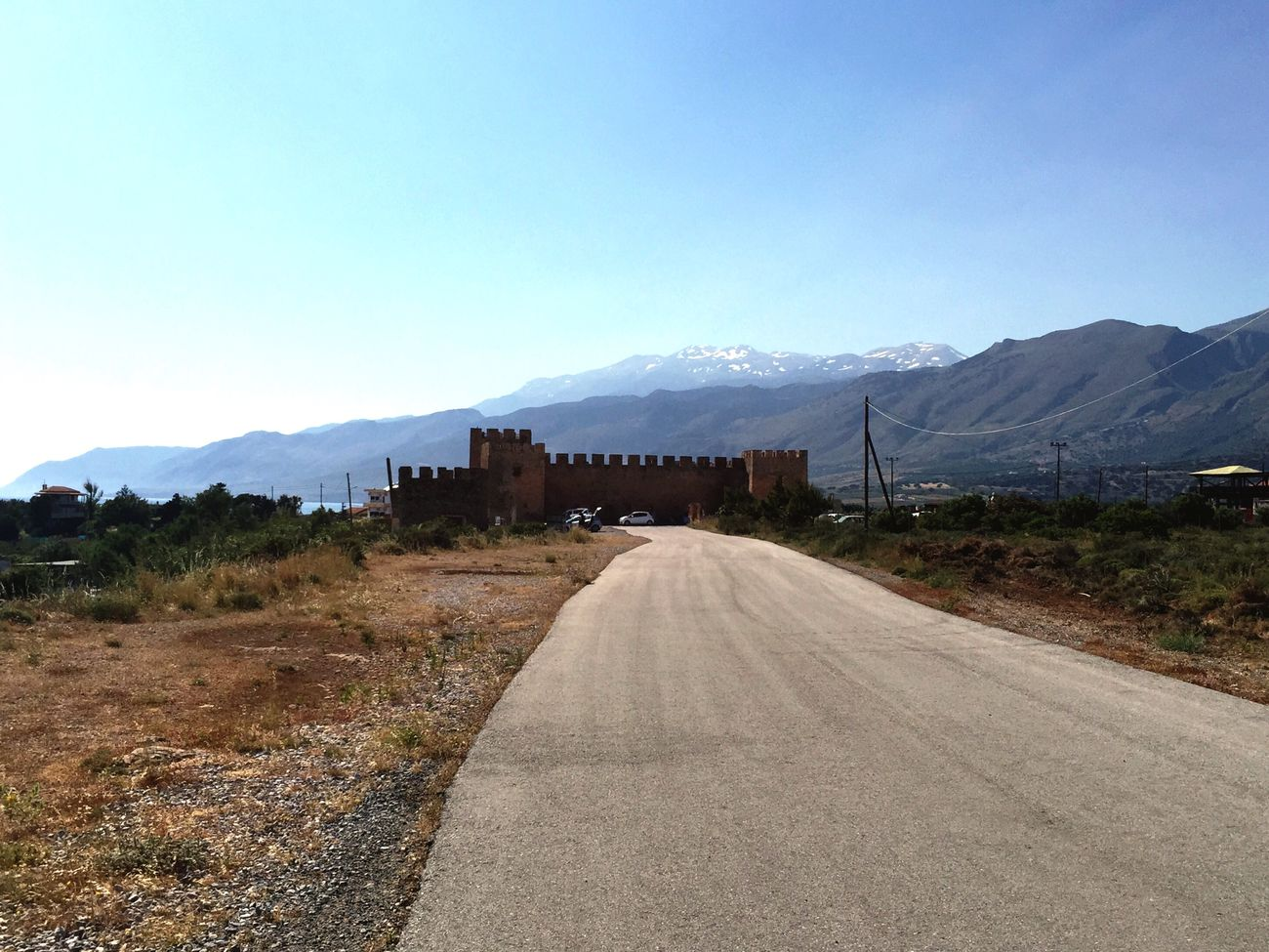 Vacation Greece Crete Fortress Mountains