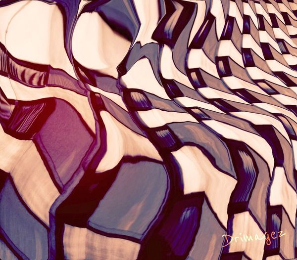 'architectural ROCKETTES' Abstract Impressionism Drimagez Digital Painting IPhoneography Abstractarchitecture