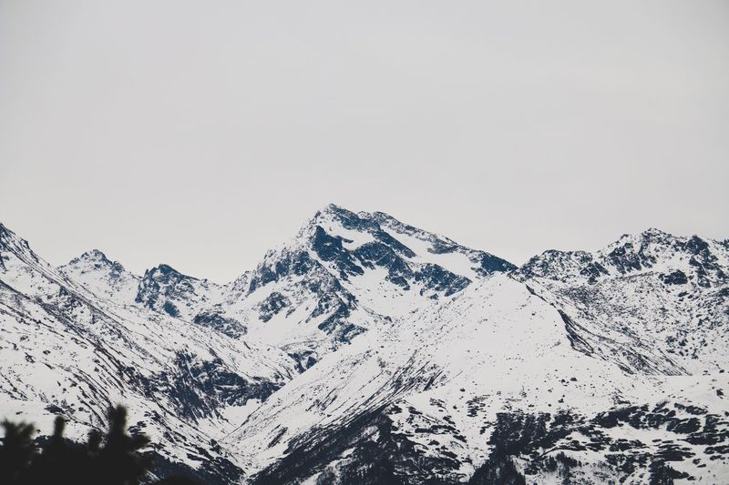 Snow Mountain Winter Cold Temperature Nature Beauty In Nature No People Scenics Day Sky Landscape Mountain Range Snowcapped Mountain Outdoors Clear Sky