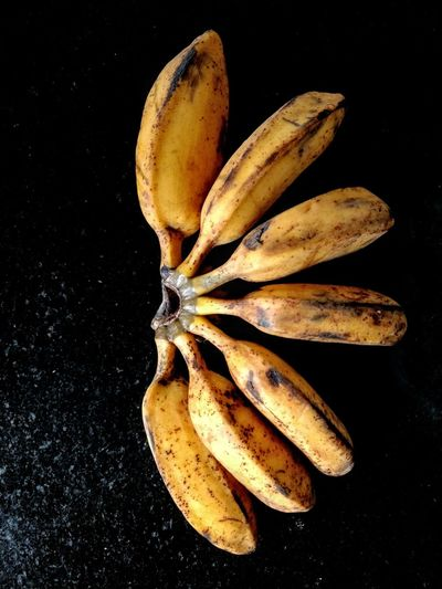 Banana Figo Brasilian Food Eyeem Market Black Background Banana Bunch Like Sunflower Gold Color Black Background Yellow Studio Shot Close-up Food And Drink