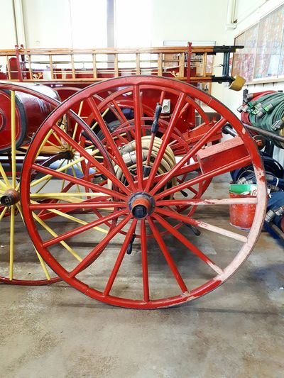Red Wheel Day Outdoors No People City Close-up Firetruck Fire Engine Accidents And Disasters Antique Antique Truck