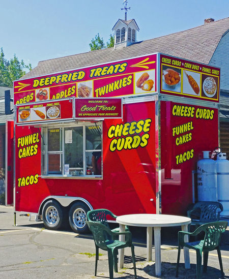 Cheese Curds Minnesota Deep Fried Twinkies Food Outdoors Red Trailer