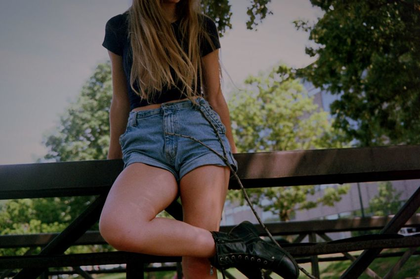 EyeEm Selects One Person Railing Casual Clothing Young Women Leisure Activity Young Adult Beautiful Woman Outdoors Long Hair Women Lifestyles Day One Woman Only One Young Woman Only Beauty Only Women Real People Adults Only Adult People