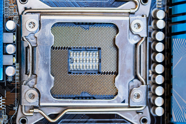 Close-up of computer chip