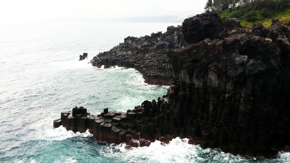 Sea Nature Water No People Beauty In Nature Outdoors Day Wave Close-up EyeEmNewHere Landscape Photography Backgrounds Hsun Popular Photos Lovely View Summer NX300M Jeju Scenics Basalt Columnar Joints EyeEm Korea Rock - Object Beach