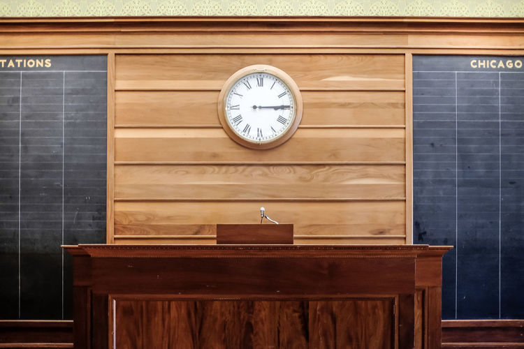 Counter against wall clock