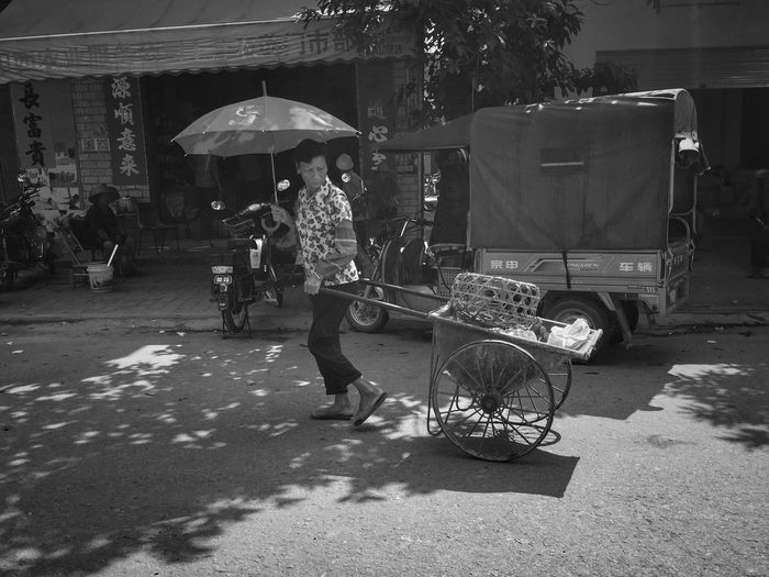Umbrella Real People Men Street Adult Transportation EyeEmNewHere