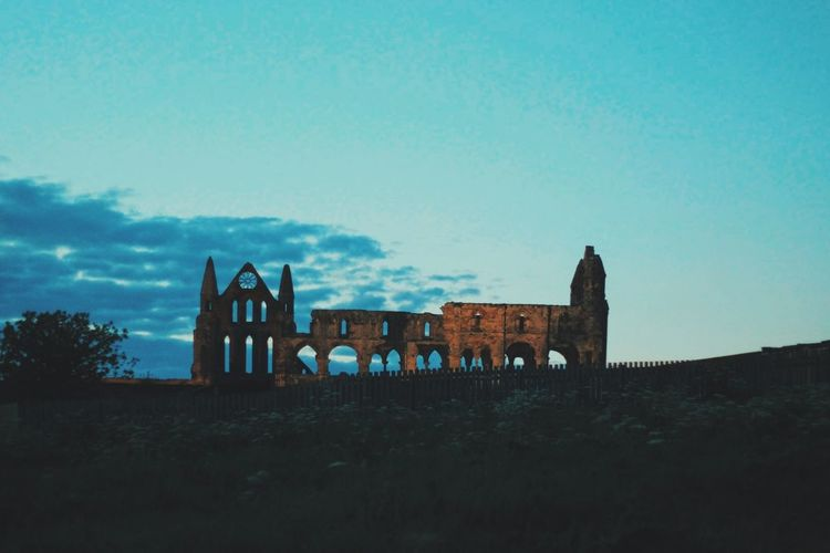 Whitby Abbey Sky History No People Outdoors Night Nature Tranquil Scene Spooky Film Photography Moody Architecture Whitby Abbey Whitby Yorkshire