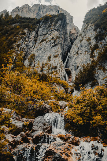 Autumn Beauty In Nature Day Flowing Water Formation Land Mountain Nature No People Non-urban Scene Outdoors Plant Rock Rock - Object Rock Formation Scenics - Nature Solid Tranquil Scene Tranquility Tree Water