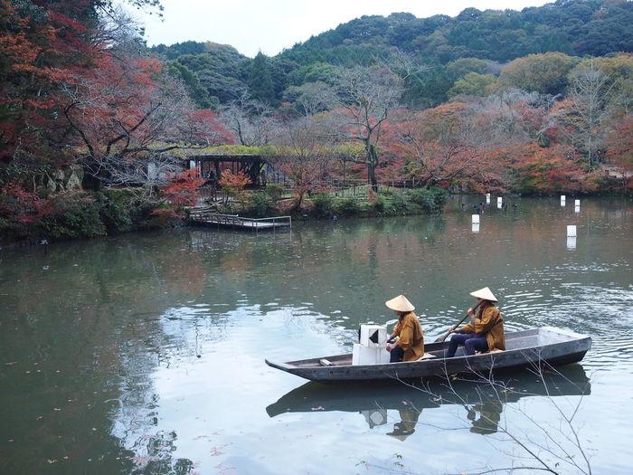 Paddling. (captured in Saga, Japan.) Beauty In Nature Boat Japan Lake Mifune Mifune Yama Mifuneyama Mountain Nature Outdoors Paddle Paddle Boats Paddling Rowing Tranquility Transportation Tree Two People