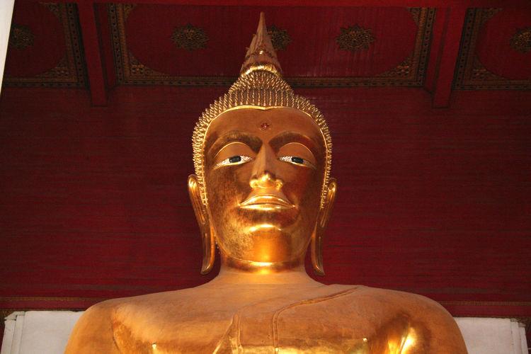 Art Beliefs Buddha Close-up No People Ornate Religion Sculpture Spirituality Statue Temple - Building Thailand Wat Mongkol Bophit