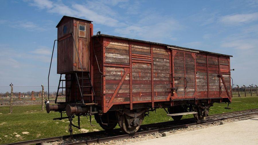 Birkenau Memorial Auschwitz Birkenau Holocaust Memorial Poland Holocaust Memorial Train Rails Railroad Track Gedenken Gedenkstätte Taking Photos Wagon  Traveling Photooftheday