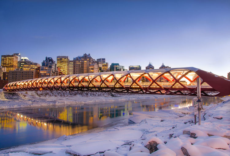 Heart of Calgary Architecture Bridge Canada City Cityscapes Eye4photography  EyeEm Best Edits EyeEm Best Shots EyeEm Nature Lover Landscape Light And Shadow Long Exposure Night Night Lights Nightphotography Photography River Snow Sunset Tourism Travel Travel Photography Traveling Walking Around Winter