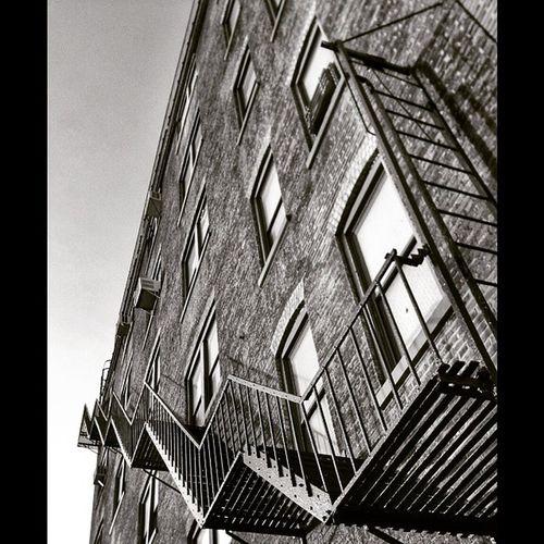 Tmarvlous Blackandwhite Stairway Fireescape lic bwtmarvlous