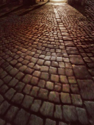 Walk with me... Cobblestone Textured  Pattern Full Frame Outdoors No People Night Romantic Shadow Couples History Old EyeEmNewHere The Street Photographer - 2017 EyeEm Awards