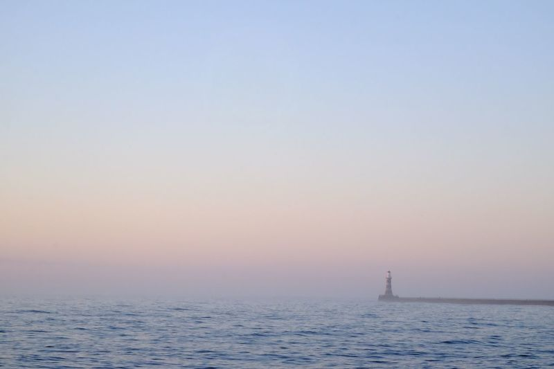 Roker Lighthouse Dawn Sunrise Water Sky Sea Beauty In Nature Tranquility Nautical Vessel Nature Scenics - Nature Tranquil Scene No People Clear Sky Outdoors The Great Outdoors - 2018 EyeEm Awards