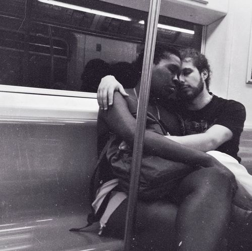 From Brooklyn to the Bronx. I'll Hold You. New York Subway Unlikely Heroes Love Couple
