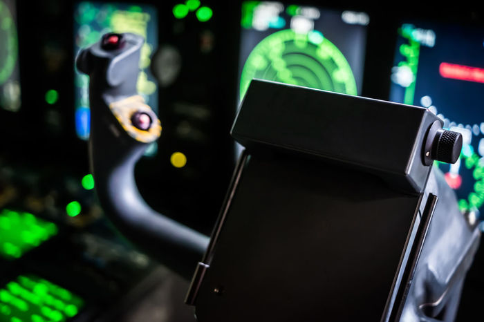 Aircraft Autopilot Cargo Close-up Cockpit Connection Control Control Panel Danger Digital EFIS Fmc Glass Green Illuminated Indoors  Military Mode Of Transport Night Pedestal Radar Spartan Technology Transportation Vehicle Interior