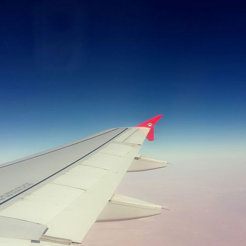 Traveling Bagdad To  Amman By_my_phone Plane Sky