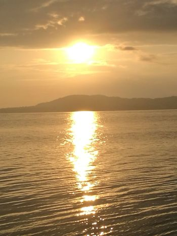 Sea Sun Reflection Scenics Nature Gold Colored