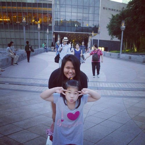 At the front of CityofdreamsMacao with clarisse Throwback Imissheralready