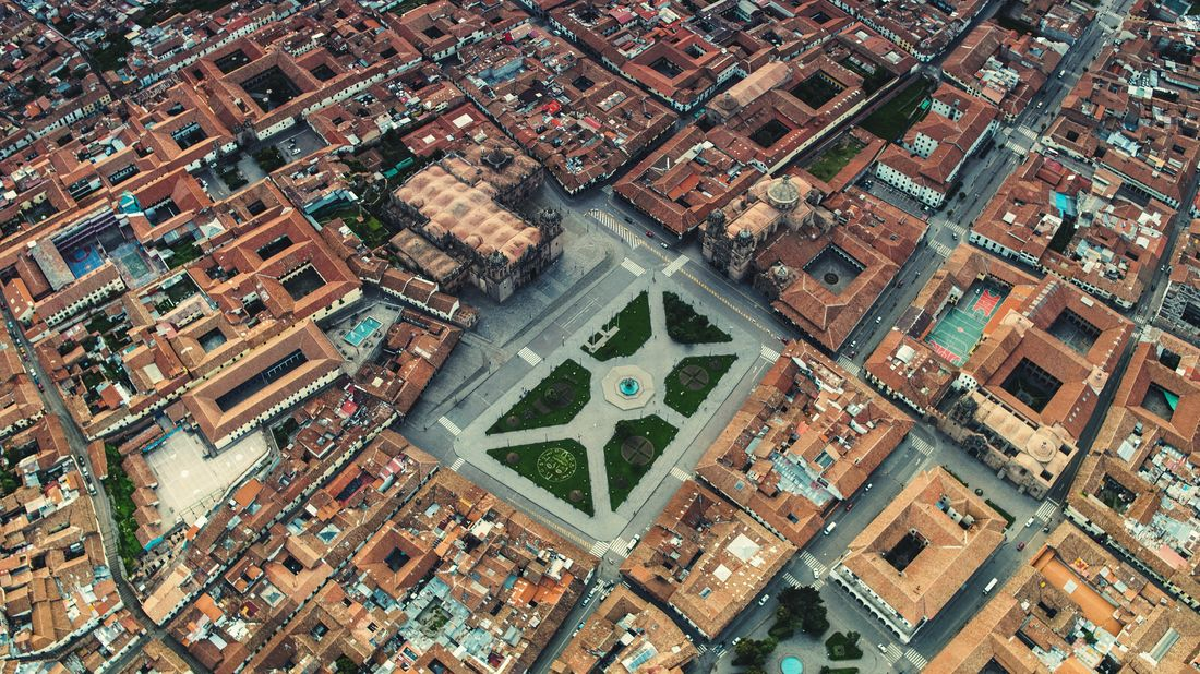 Birds Eye View DJI X Eyeem Aerial Peru South America Aerial Aerial View Fountain Church Inka Cityscape Water Backgrounds Full Frame Aerial View Pattern High Angle View City Exterior Settlement TOWNSCAPE Historic Town Rooftop Crowded Urban Neighborhood This Is Latin America