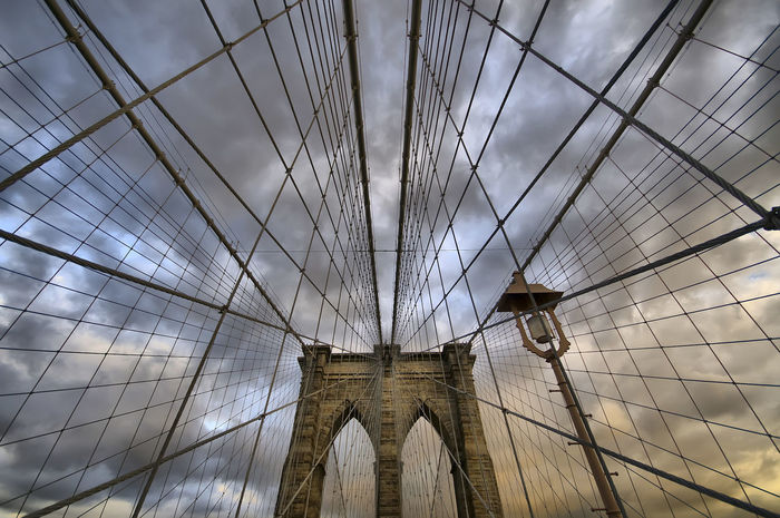 Architecture Bridge Broklyn Bridge Built Structure Cable Chainlink Fence Connection Design Engineering Fence Low Angle View Metal Outdoors Protection Religion Safety Security Structure Suspension Bridge The Way Forward
