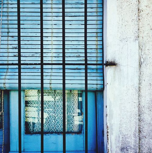 Window Collection EyeEm Selects Closed Architecture Window Built Structure Day Safety No People Building Exterior Outdoors Close-up Blue