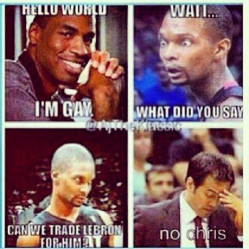 ???????? CTFU!!! Oh Chris... ChrisBosh Bosh InTheCloset Miamiheat JasonCollins NBA ComingOut