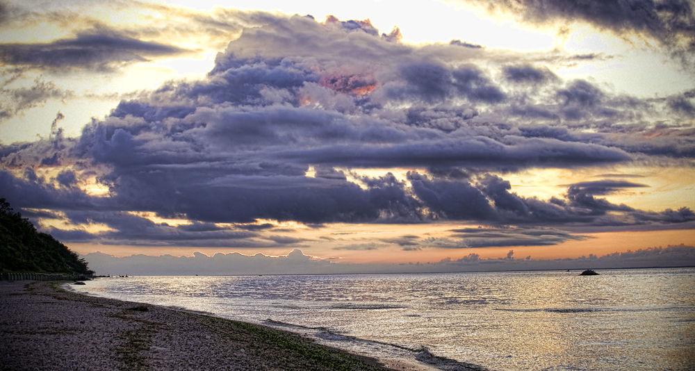 Beach Beauty In Nature Cloud - Sky Day Horizon Over Water Nature No People Outdoors Scenics Sea Sky Sunbeam Sunlight Sunset Water Wave