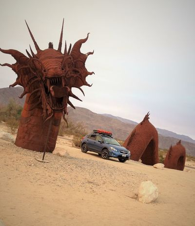 Off the beaten path, you meet the strangest creatures. Adventure Arid Climate California Day Desert Dragon Finding New Frontiers Landscape Nature No People Off Road Outdoors Rusty Sand Sand Dune Sculpture Serpent Serving Size
