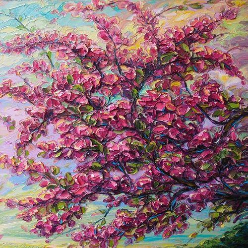 3D Painting Flower Canvas