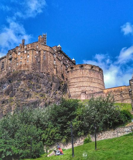 Reading the newspaper at the skirt of Edinburgh Castle. Sky Nature Outdoors Edinburgh Castle Quiteness