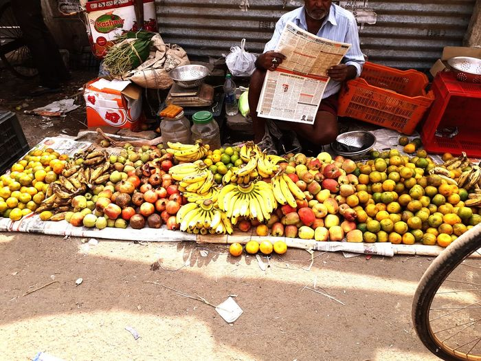 Fruits for sale at market stall