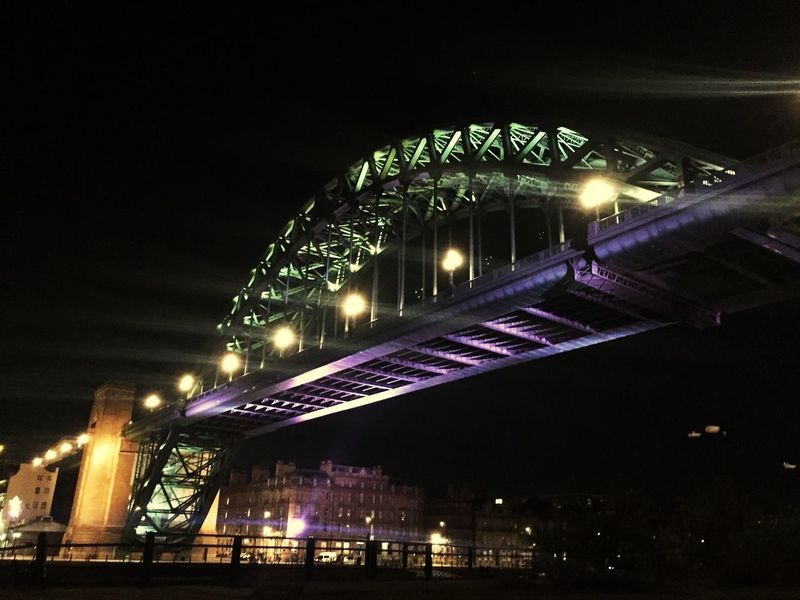 Tyne Bridge Newcastle Upon Tyne Rivertyne Architecture Night Built Structure Illuminated Bridge - Man Made Structure City Transportation Connection Outdoors No People