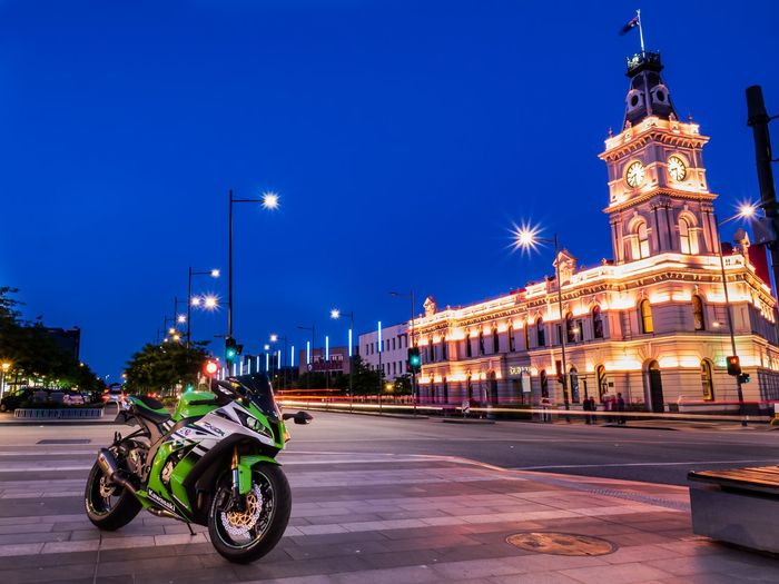 Drum Theatre - Dandenong, VIC Motorcycle Photography Motorcycle Kawasaki City Illuminated Urban Skyline Street Light Street Sky Architecture Land Vehicle City Street Vehicle Moving Headlight Motor Scooter High Street Town Square Parking First Eyeem Photo