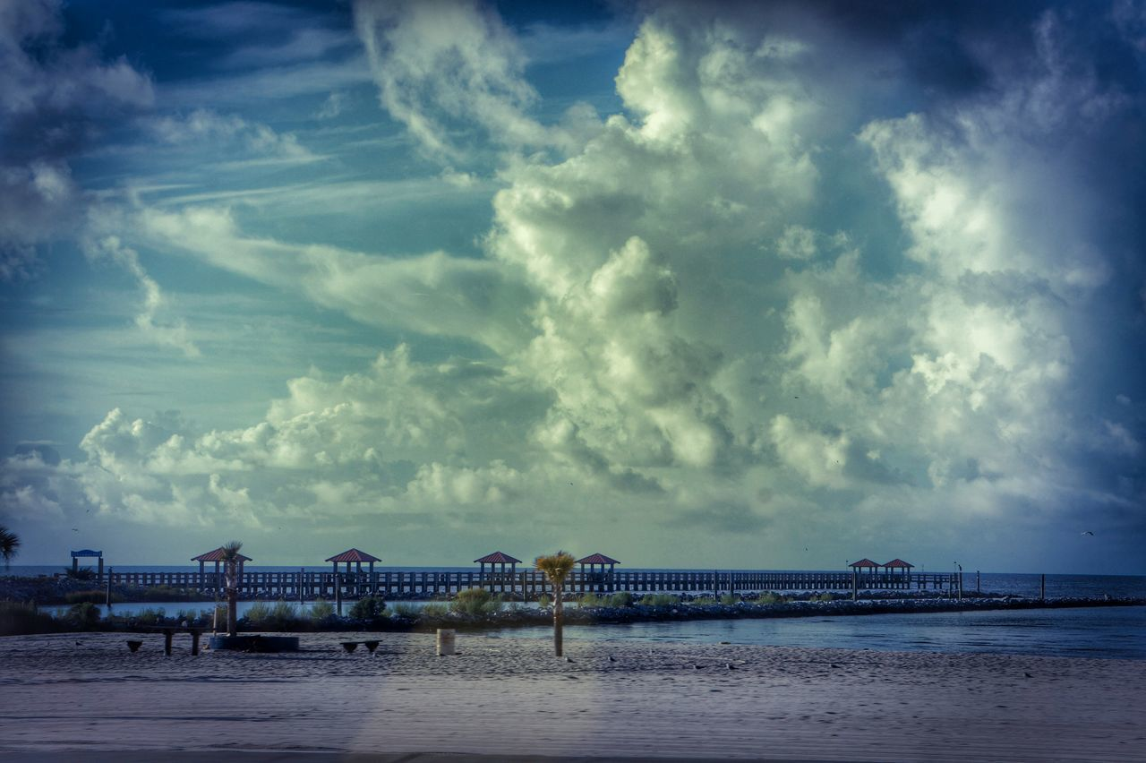 cloud - sky, sky, water, architecture, built structure, sea, nature, beach, outdoors, scenics, no people, day, beauty in nature, building exterior, horizon over water